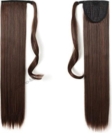 Wrap Around Ponytail  (Steil) 55cm (Synthetisch haar), kleur -  Dark brown / Medium brown - 2/30