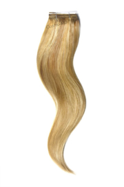Weave Extensions (steil) 50cm (110gram) - Kleur (#12/16/613) Light Brown/Gold Blonde/Bleach Blonde Mix