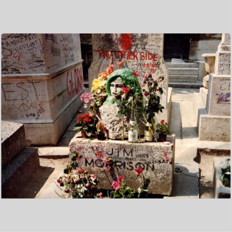 Het graf van Jim Morrison