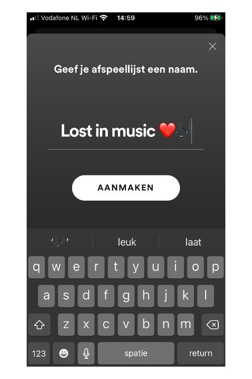 Spotify afspeellijst maken