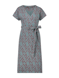 IEZ! - Dress Wrap Face Jersey Print Grey-Blue