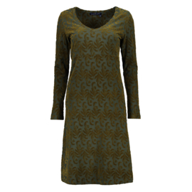 V-Neck Dress Lola - Spruce/Mud - Lilly