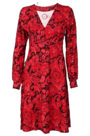 KO:KO Emily red Paisley dress