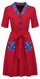 Tante Betsy Dress Vera Lynn DUO Birds Blos Red