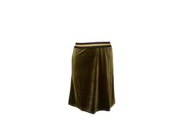 Mooi Vrolijk Skirt Shine - Basic Green Steam Velvet