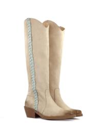La Pintura Luciana boots Beige - Mint braided