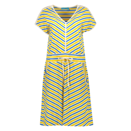 Bakery Ladies Dress Stripe Lemon/ Kobalt Y/D Stripes