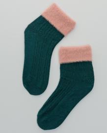 SURKANA Plain Socks With Hair Cuff Green