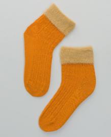 SURKANA Plain Socks With Hair Cuff Yellow