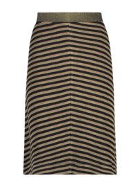 IEZ! - Skirt Terry Stripe Brown Black