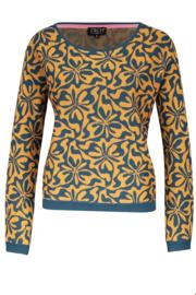 ZILCH Sweater Round Neck Wiggle Gold