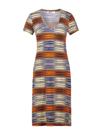 IEZ! - Dress Jersey Print Stripe Blue/ Red/ White