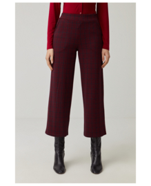 SURKANA Ankle Fluid Jacquard Trousers Red