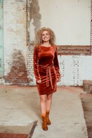 Mooi Vrolijk Dress Chic - Basic Rust Steam Velvet
