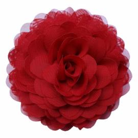 Blood Red chiffon corsage