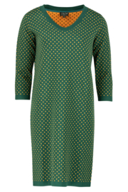 ZILCH Dress V-Neck Dots Forest
