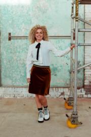 Mooi Vrolijk Skirt Shine - Basic Rust Steam Velvet