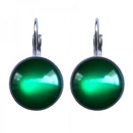 Glossy Emerald Dots