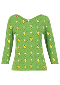 Blutsgeschwister Happy Swalloyneck Shirt Yellow Wellys