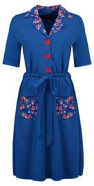 Tante Betsy Dress Vera Lynn DUO Birds Blos Blue