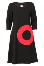 Bibbi Black/red dress