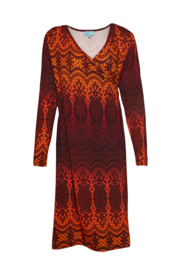 LaLamour Classic Wrap Dress Lace Red