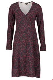 ZILCH Dress Cross Leaves Port