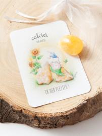 MOOQI - Knuffelsteen pakketje Oranje Calciet