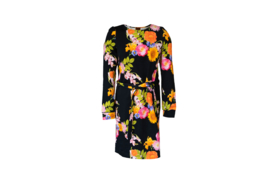 Mooi Vrolijk Dress Chic - Black Flowers