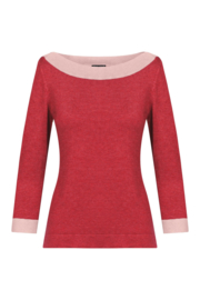 ZILCH Sweater Boatneck Blossom two tones
