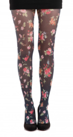 Pamela Mann Printed Tights - Ditsy Floral Onesize