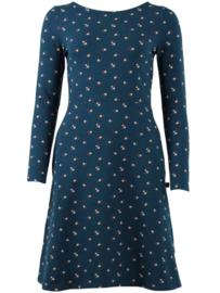 Danefae Sidsel Dress Stone Blue Miniflower
