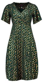 Tante Betsy Dress Havannah Long Gold Dot Green