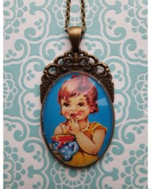 Opgepimpt Ketting Vintage Meisje Blauw