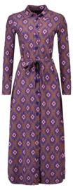 Tante Betsy Shirt Dress Long Wally Purple