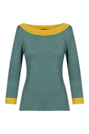 ZILCH Sweater Boatneck Porcelain two tones