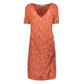 Bakery Ladies Wrap Dress - Japan Blossom Mango