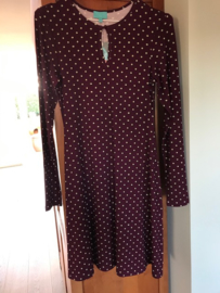 LaLamour Pearly Flared Dress Pearly Bordeaux