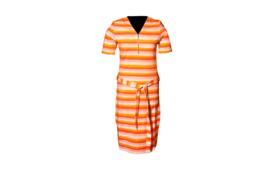 Mooi Vrolijk Dress Short Zipper Colorful Stripes