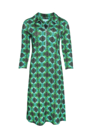 LaLamour Zipper Dress Seventies Turquoise