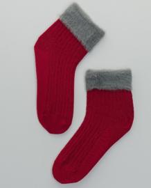 SURKANA Plain Socks With Hair Cuff Red