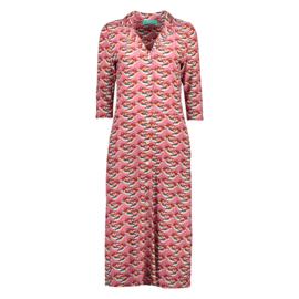 Bakery Ladies Polo Dress Tulsa 3/4 Sleeve - Mandarin Duck Blossom