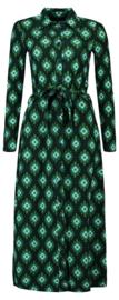 Tante Betsy Shirt Dress Long Wally Green