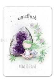 MOOQI - Ansichtkaart Amethist