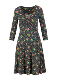 Blutsgeschwister Hot Knot Robe 3/4 arm Grid of Flowers