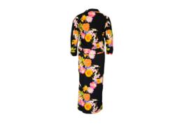 Mooi Vrolijk Dress Long - Black Flowers