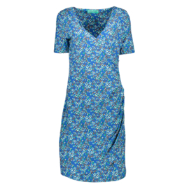 Bakery Ladies Wrap Dress - Japan Blossom Kobalt