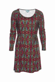 LaLamour Orient Flared Dress Green/ Aubergine