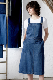 Seasalt Scots Pine Pinafore Dress-Mid Indigo