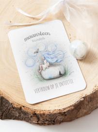 MOOQI - Knuffelsteen pakketje Maansteen